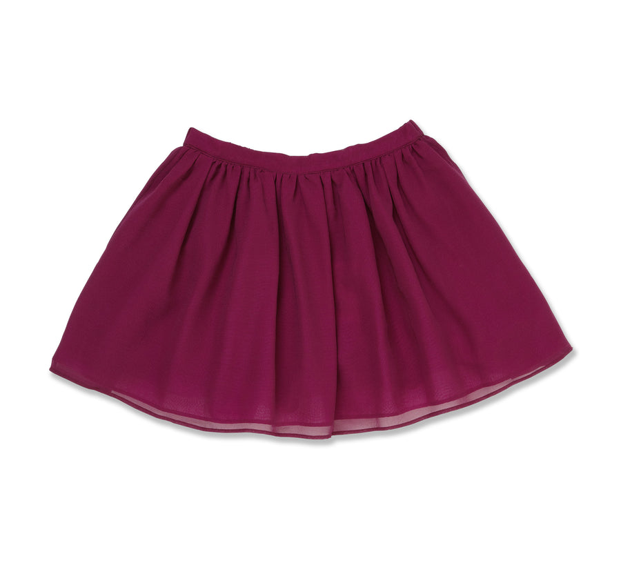 Layered Plum Skirt by Marie Chantal