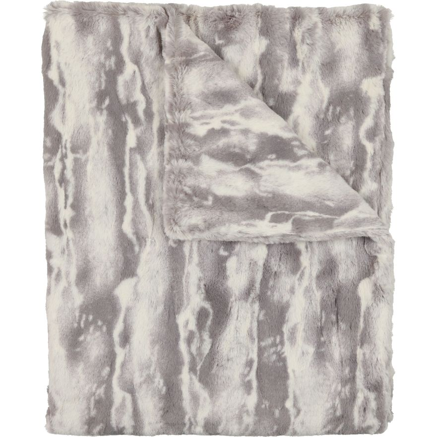 Grey Tie Dye Blanket by Peluche