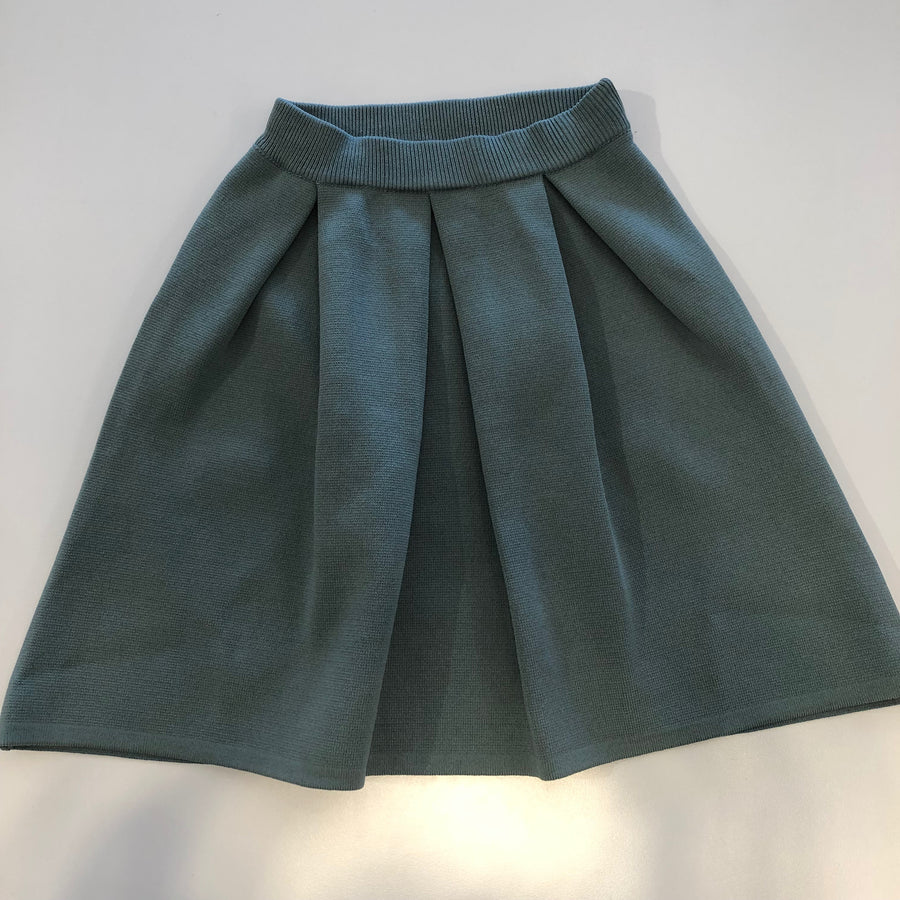 Green Knitted Jacard Skirt by Ustabelle