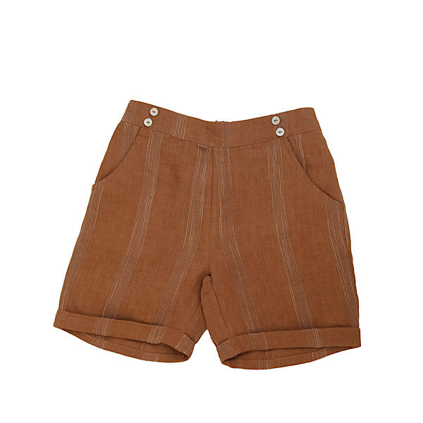 Terracotta Striped Shorts by Noma