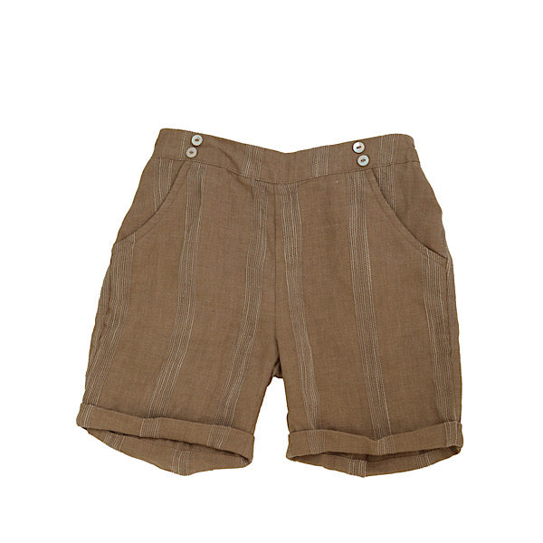 Mocha Brown Striped Shorts by Noma