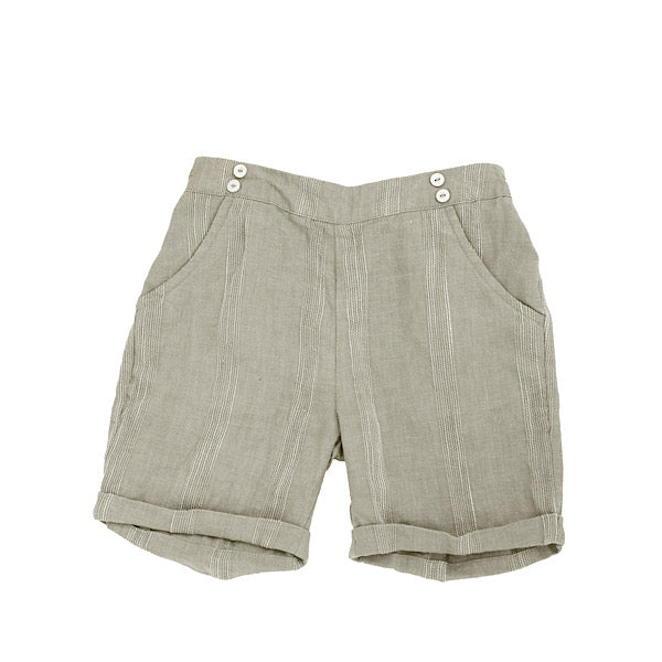 Beige Striped Shorts by Noma