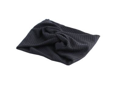 Black Twisted Ribbed Turban by Arbii