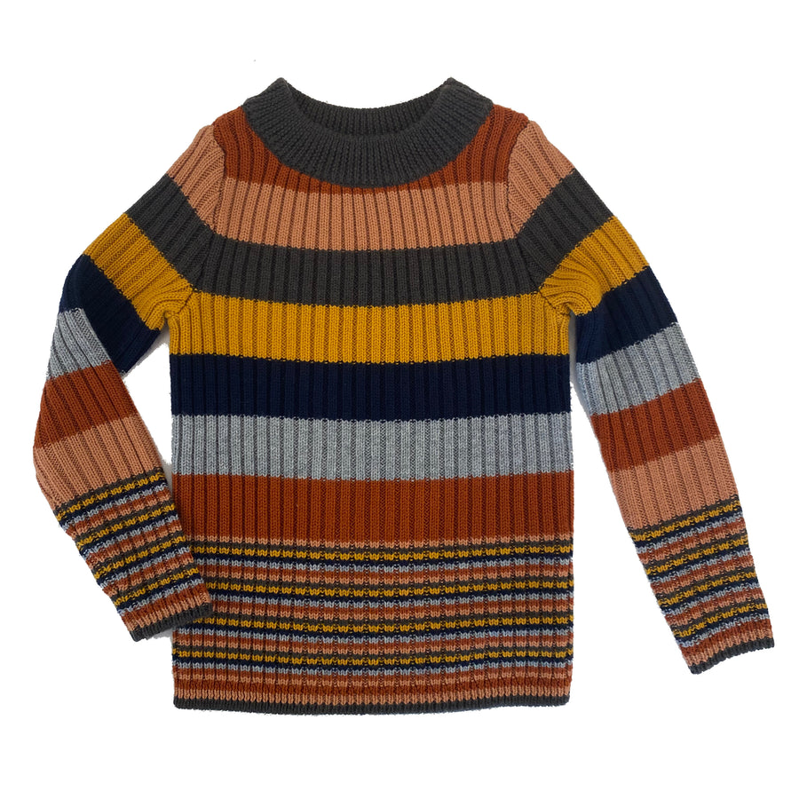 Rainbow Wool Pullover Sweater by Mabli