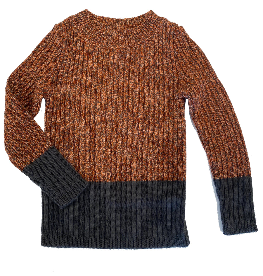 Brick/Coca Wool Pullover Sweater by Mabli