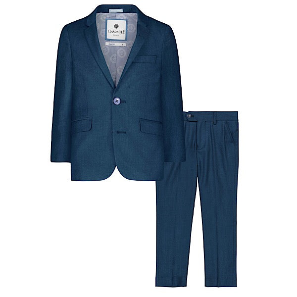 Teal Slim Fit Suit by Charkole