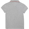 Grey Embroidered Logo Polo by Hugo Boss
