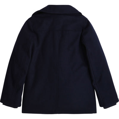Button Fastener Coat by Hugo Boss