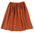 Maple Matte Satin Skirt with Side Patch Pockets by Une Fille