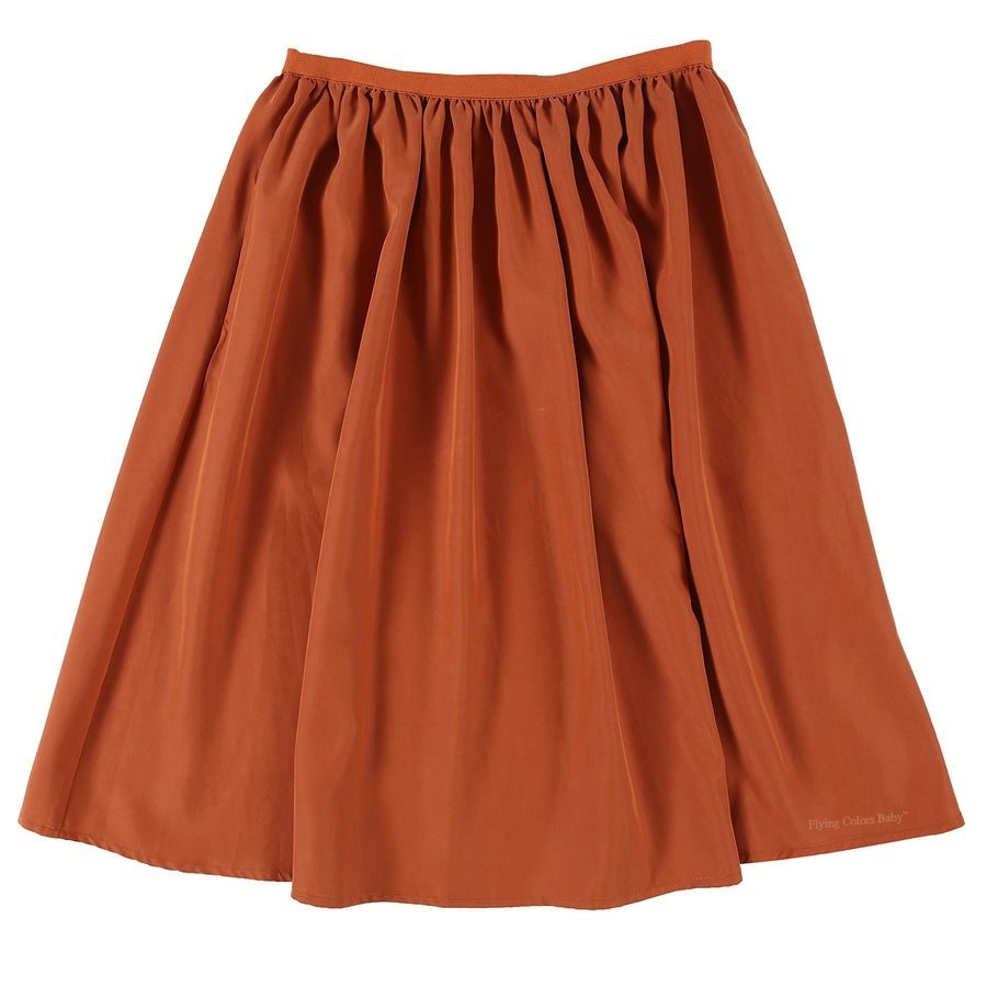 Maple Matte Satin Skirt with Side Patch Pockets by Une Fille - Flying Colors Baby
