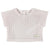 Champagne Crop Tee with Zipper Back by Une Fille