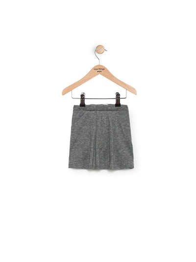 Pleated Plain Grey Skirt by Nice Things Mini