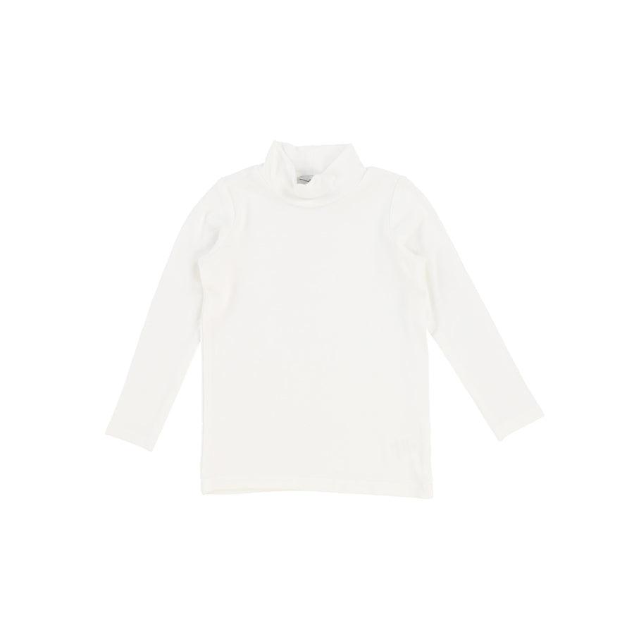 Winter White Rib Turtleneck by Lil Leggs
