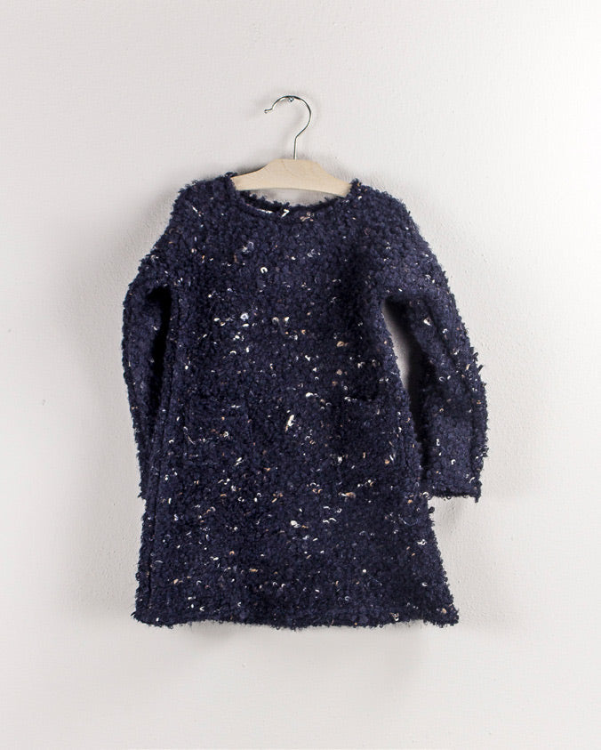 Navy Knit Dress by Olive by Sisco - Flying Colors Baby