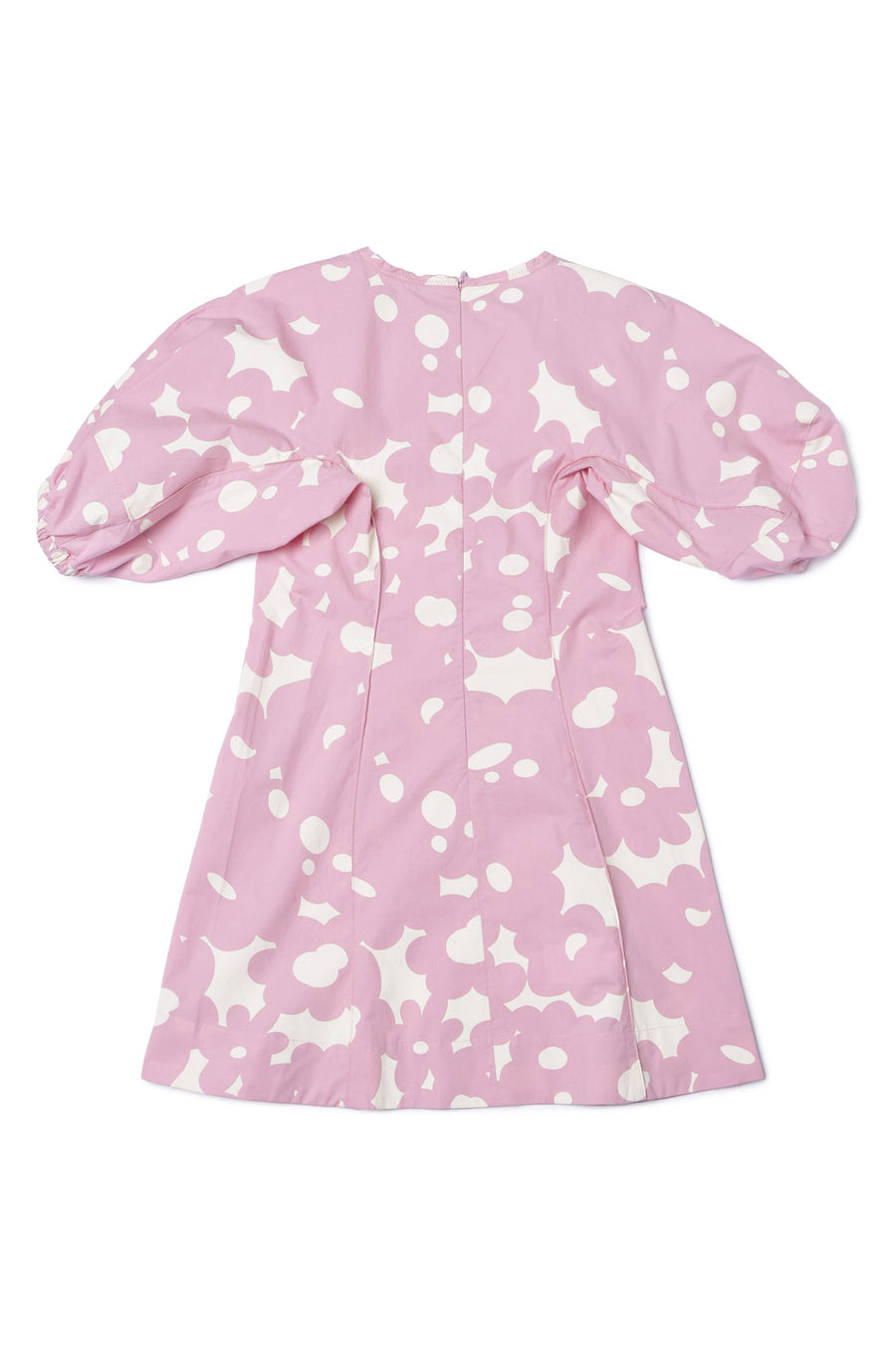 Floral Pink Puff Sleeve Dress by Marni