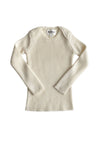 Ivory L/S Knitted Wool Top by Mabli