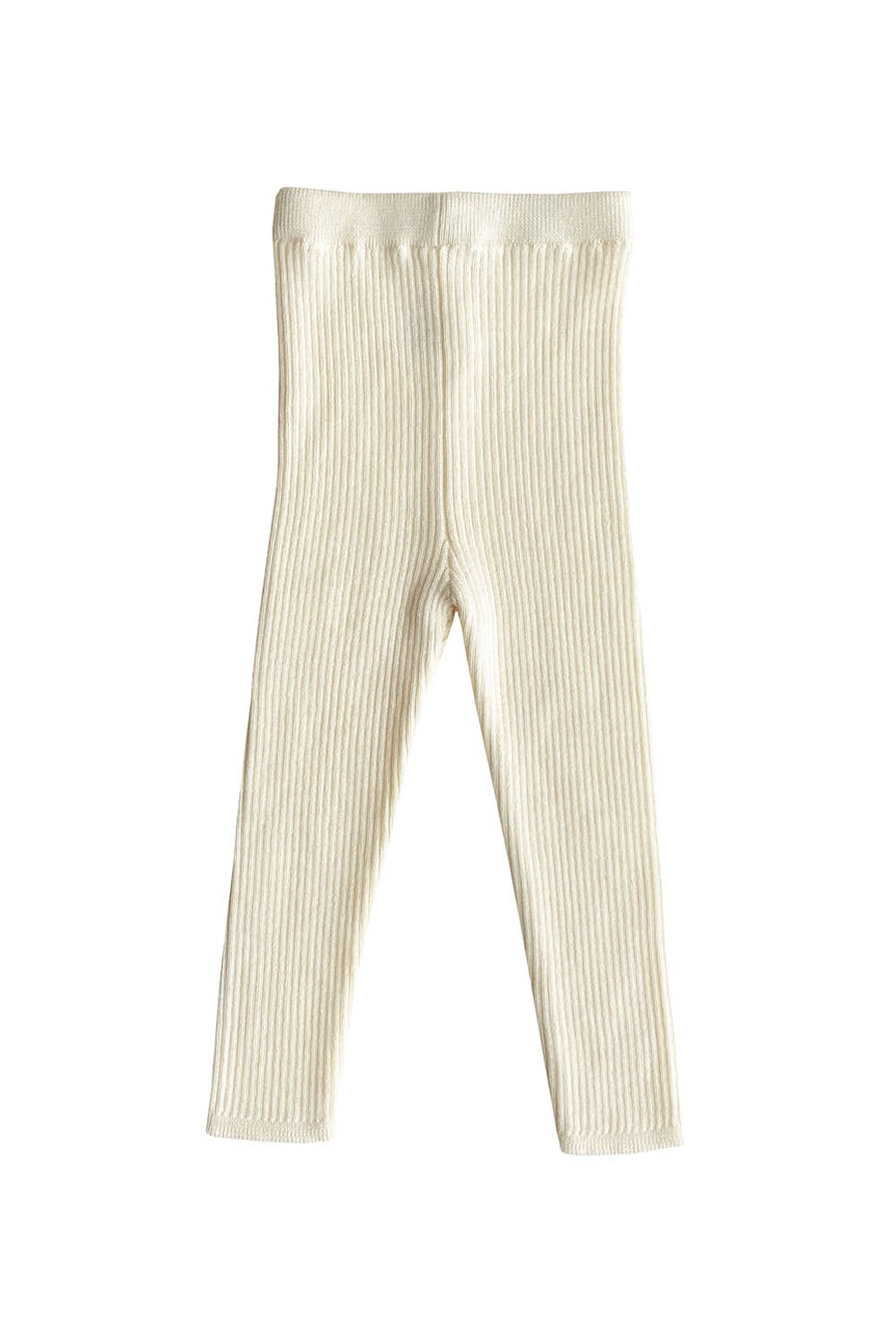 Ivory Knitted Wool Leggings by Mabli
