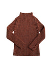 Brick/Rosewood L/S Knitted Wool Pullover by Mabli