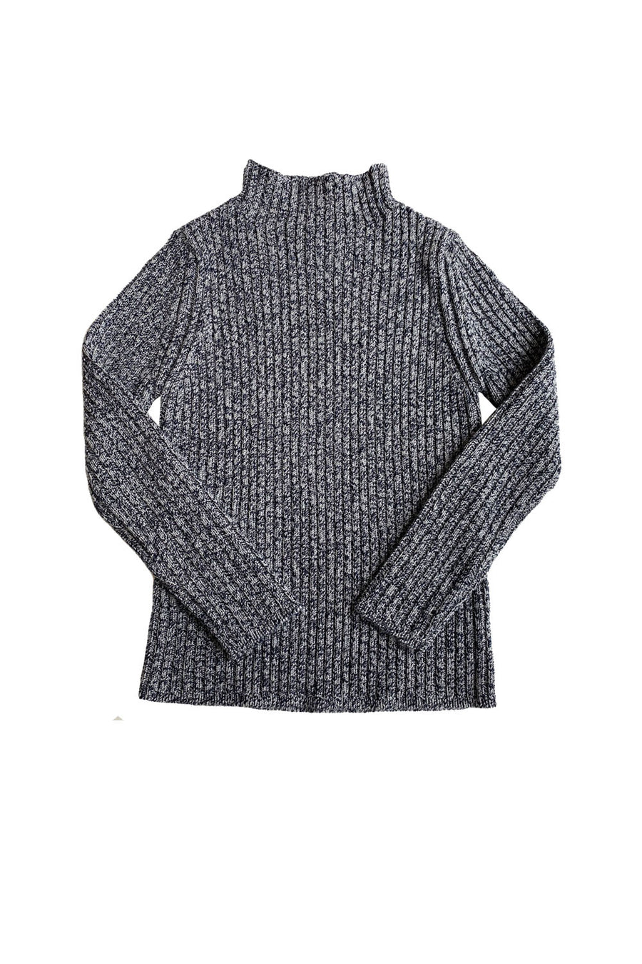 Indigo/Grey L/S Knitted Wool Pullover by Mabli