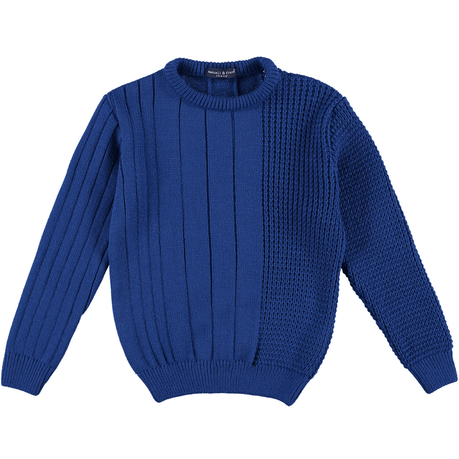 Cobalt Knit Sweater by Manuell & Frank