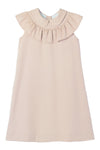 Ruffle Collared Taffeta Dress by Mipounet