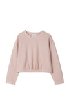 Shirred Sweatshirt by Mipounet