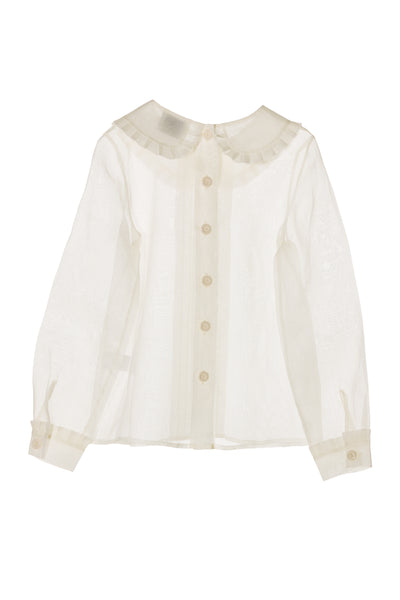 Organza Collared Blouse by Mipounet