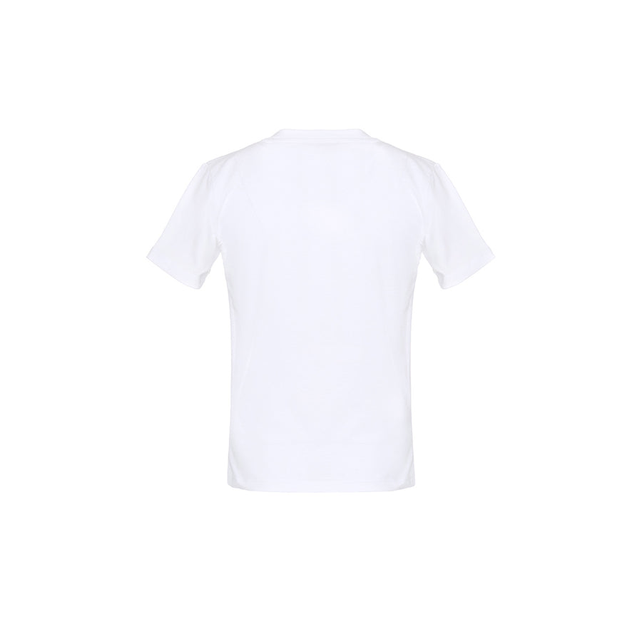 White Jersey Logo T-Shirt by MSGM