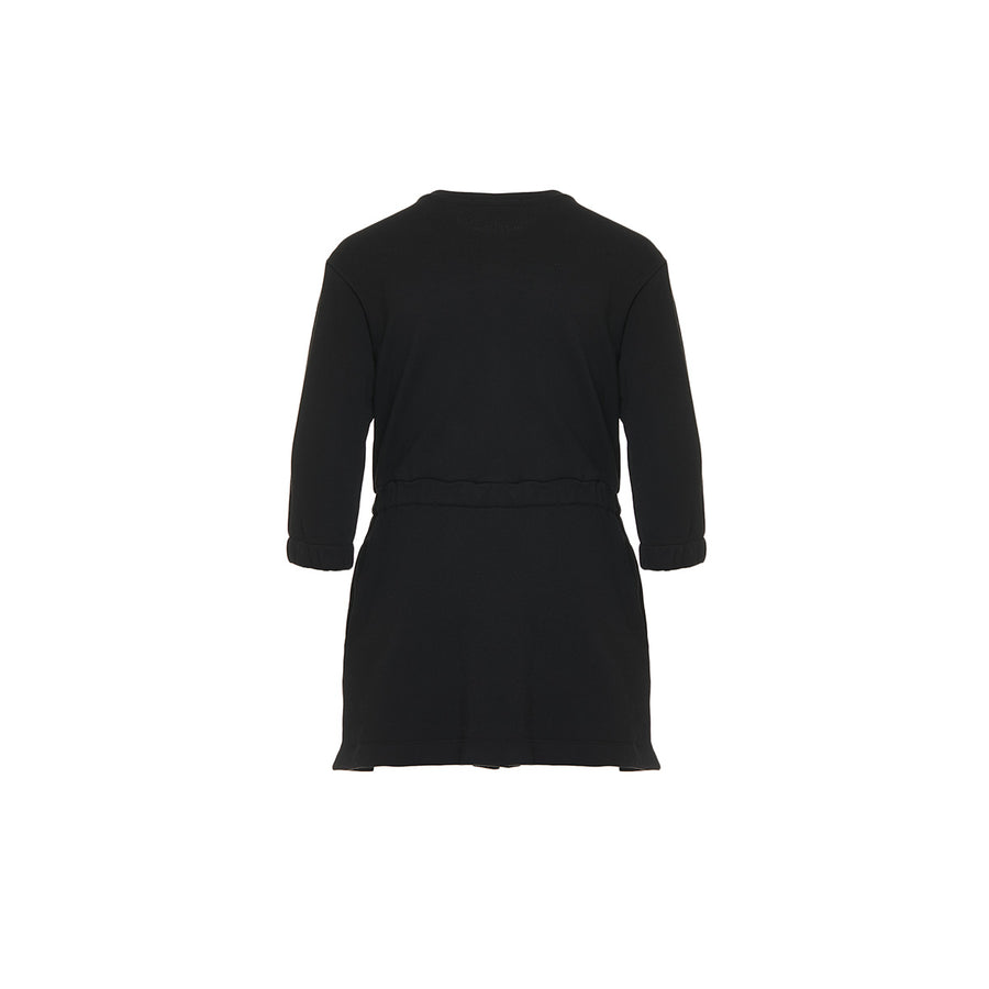 Black Fleece Dress with Bow by MSGM