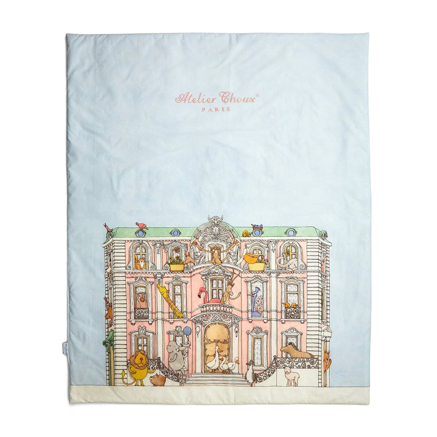 Reversible Quilt Monceau Mansion/ Hot Air Balloons by Atelier Choux