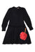 Black Bow Leather Apple Dress by N21
