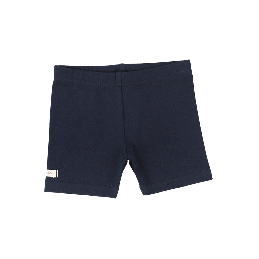 Navy Biker Shorts by Lil Leggs