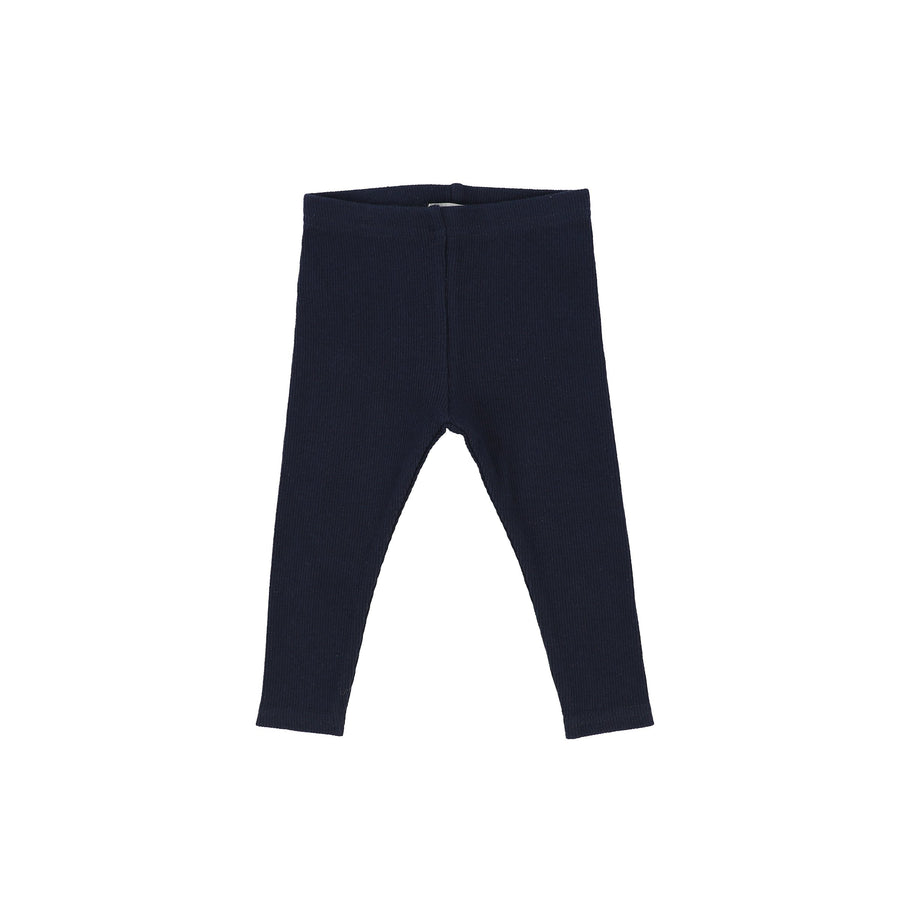 Navy Rib Leggings by Lil Leggs