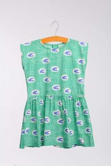 Ode Green Bird Dress by Wander & Wonder