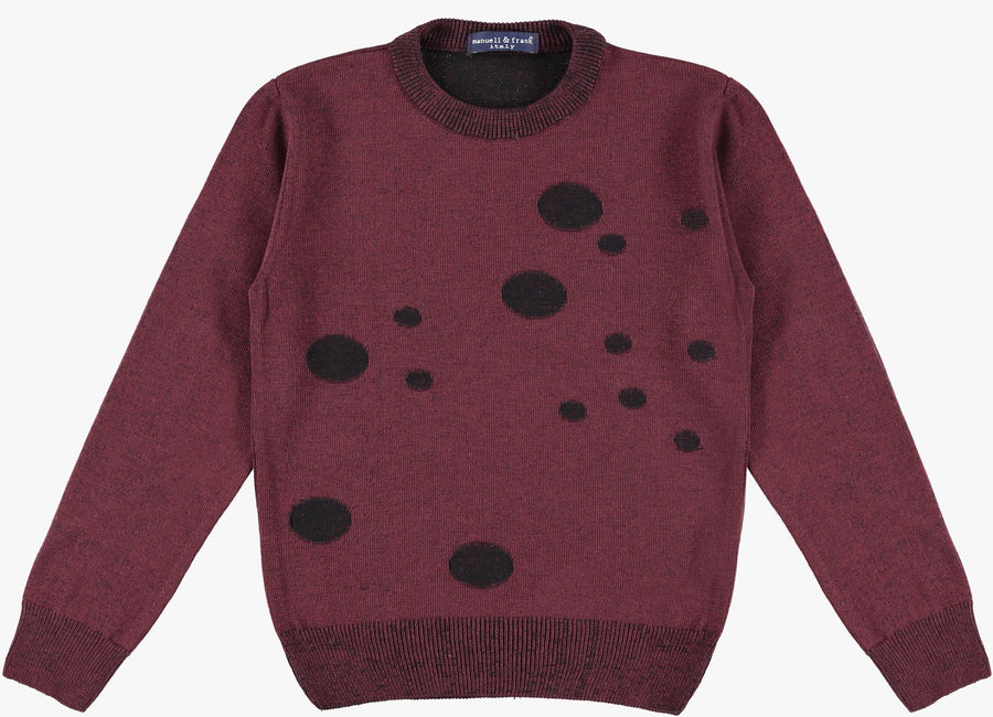 Bordeaux/Nero Sweater by Manuell & Frank