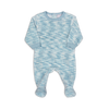 Blue Space Dye Velour Footie by Coccoli