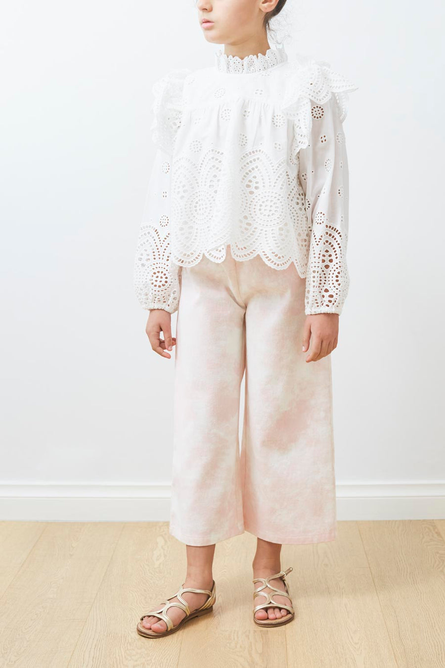 Cut Out Eyelet Blouse by Petite Amalie