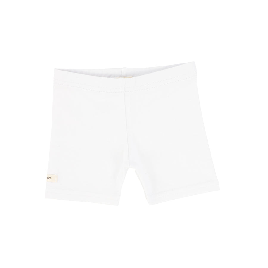 Pure White Biker Shorts by Lil Leggs
