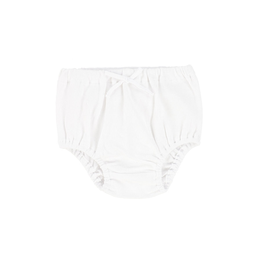 Pure White Rib Bloomers by Lil Leggs