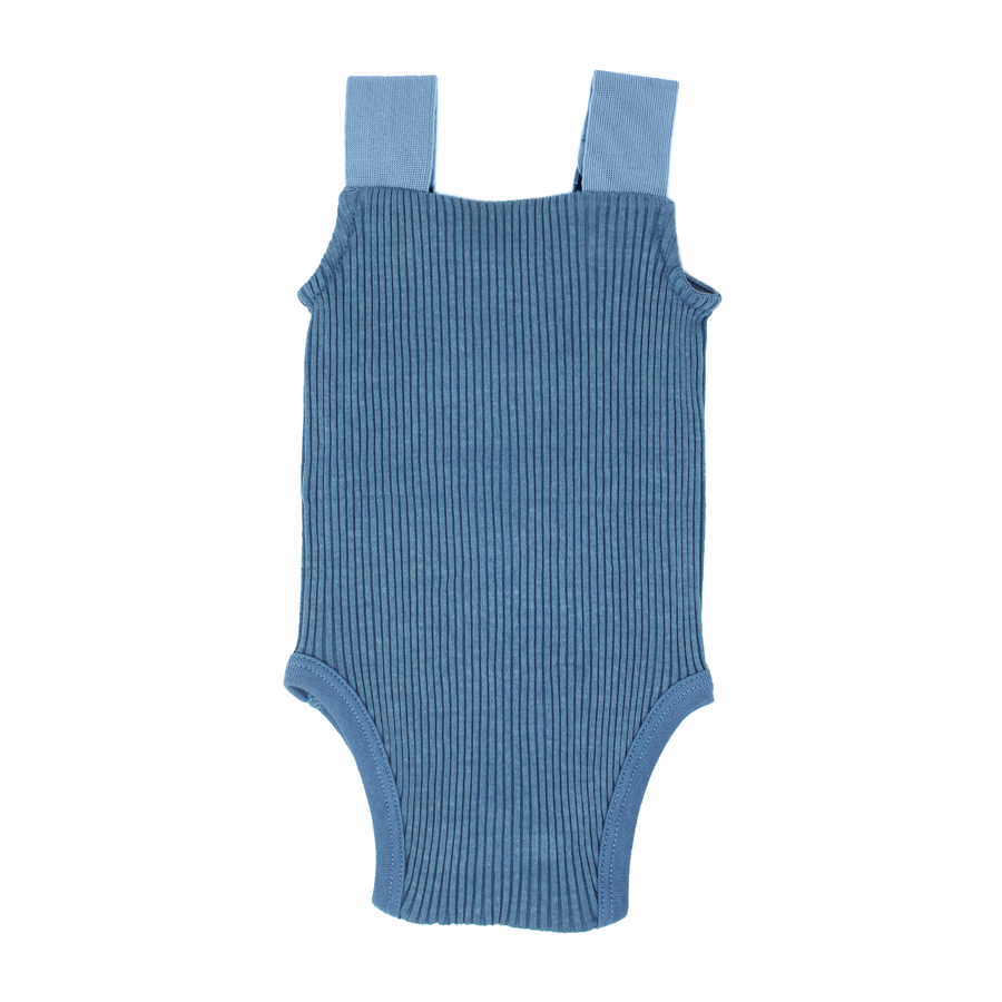 Sky Ribbed Bodysuit by L'ovedbaby