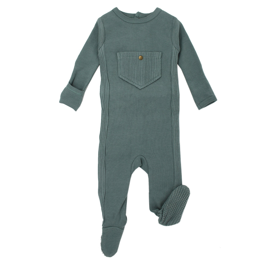 Jade Ribbed Footie by L'ovedbaby