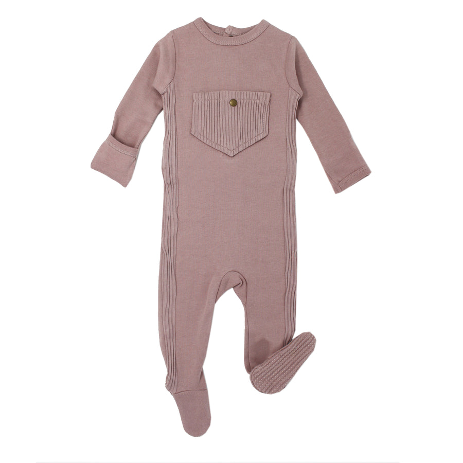 Thistle Ribbed Footie by L'ovedbaby
