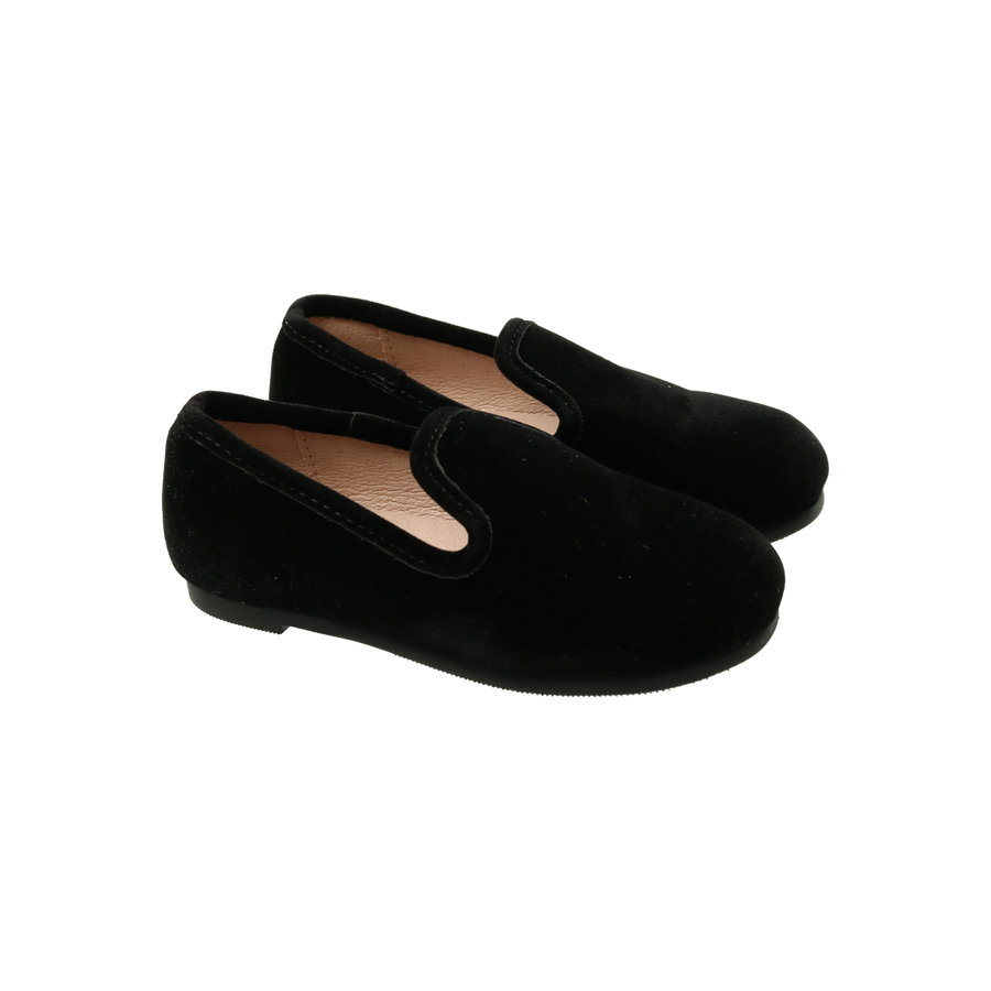 Raven Black Velvet Loafers by Zeebra