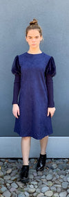 Navy Suede Dress by Picadilly