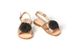 Riccio Pom Sandals by Sonatina