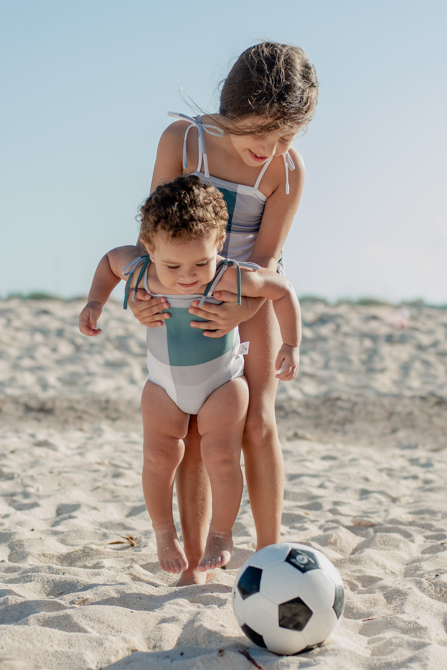 Sage Colorblock Swimsuit by Sparrow Kids