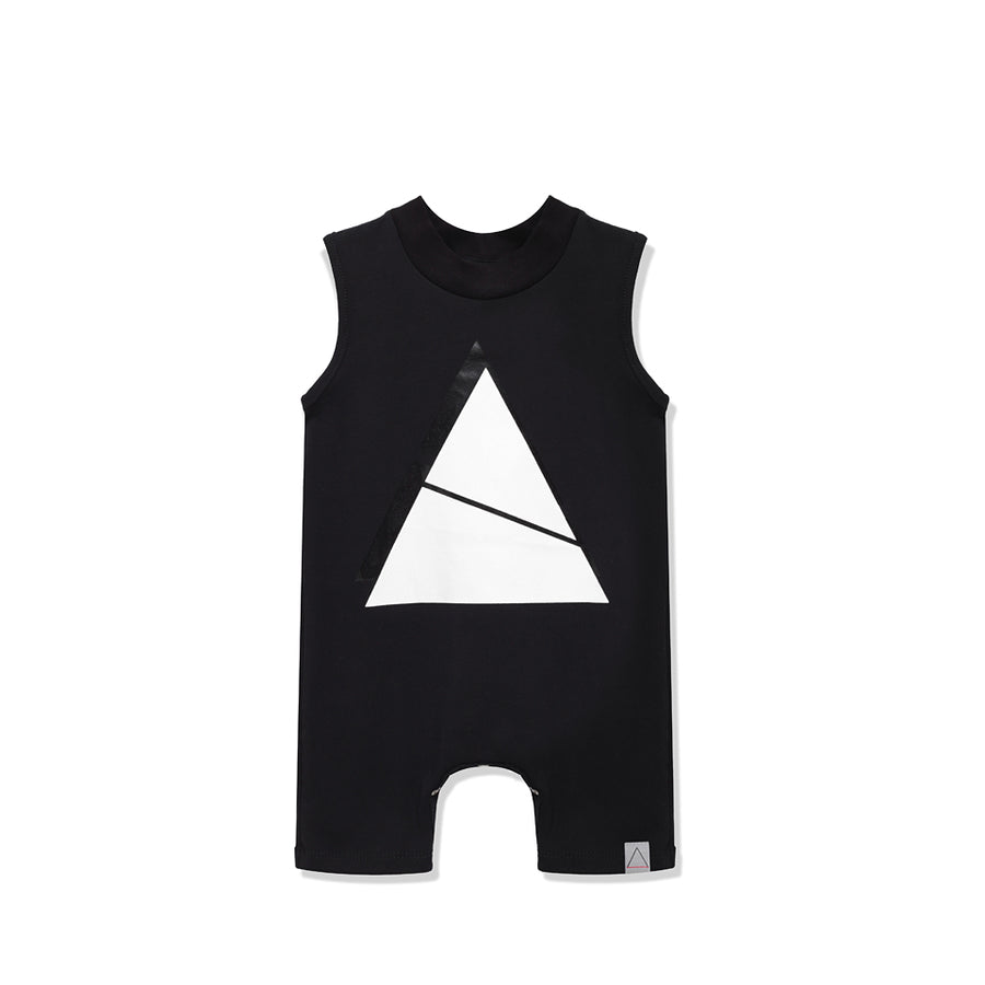 Triangles Black Romper by Nasha