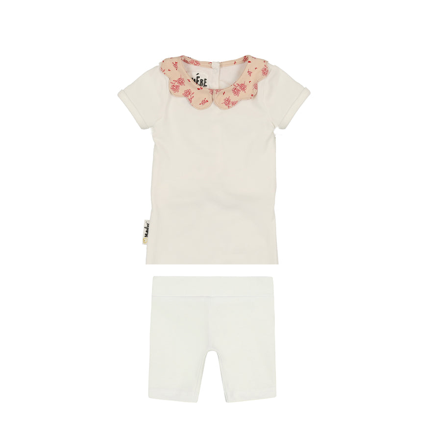 Scalloped Collar Short Set by Maniere