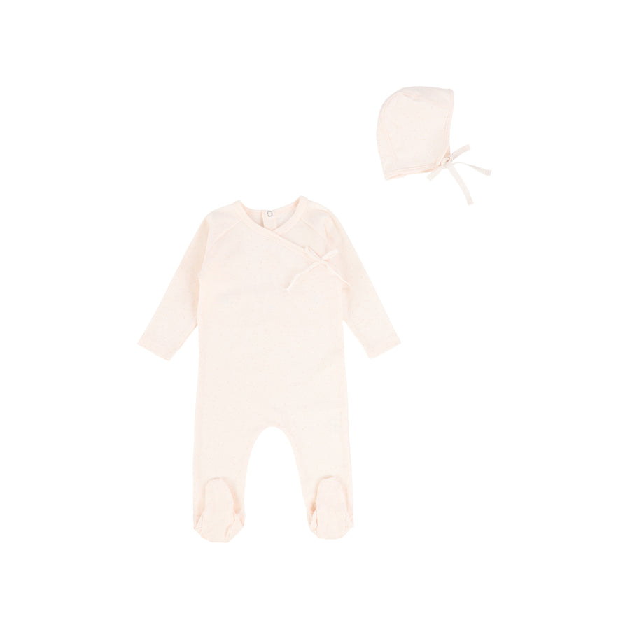 Soft Pink Wrap Footie by Bee and Dee