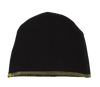 Black Coverstitch Hat by Kipp